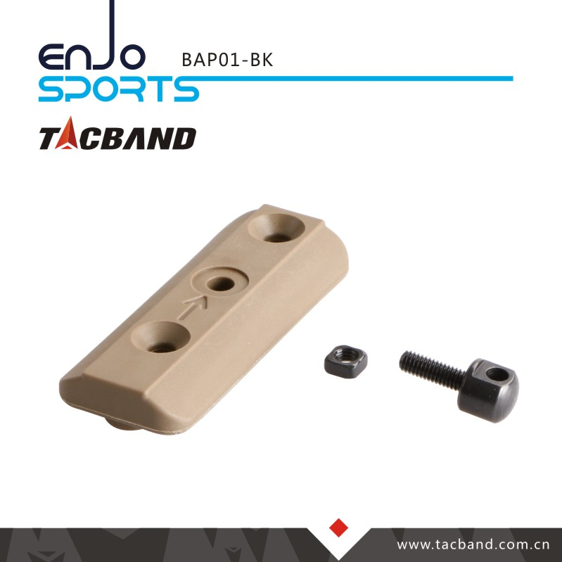 Tacband Tactical Bipod Adaptor for Keymod - with Bipod Stud Black