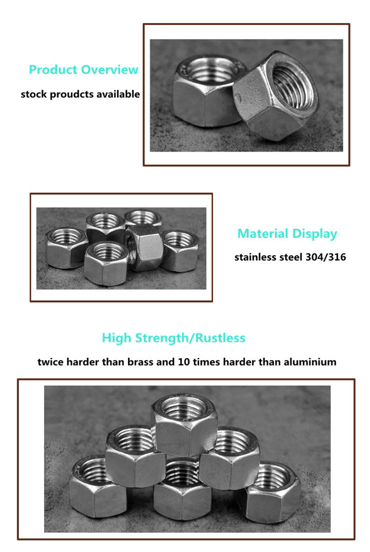 High Quality Stainless Steel 304 M32 A2-70 Heavy Hex Nut