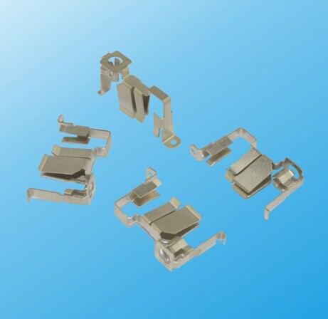 Precision Metal Nickel Plated Electrical Contact and Brass Rail Contact (HS-BC-010)