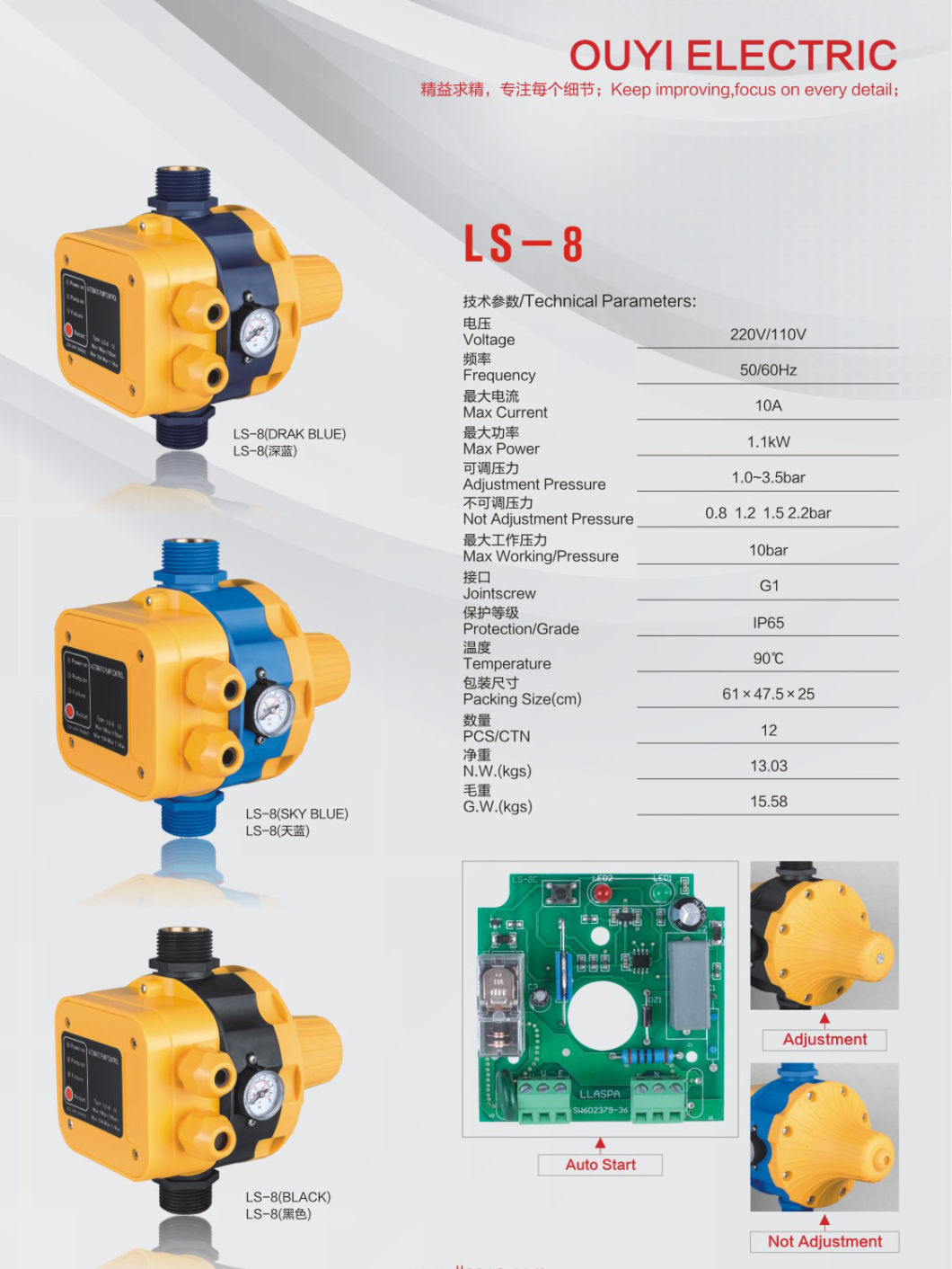 Automatic Pressure Control Switch for Water Pump Ls-8