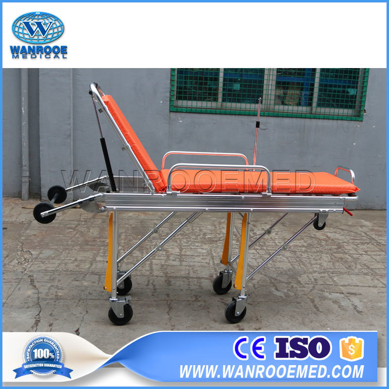 Ea-3A Aluminum Alloy Hospital Adjustable Emergency Ambulance Stretcher
