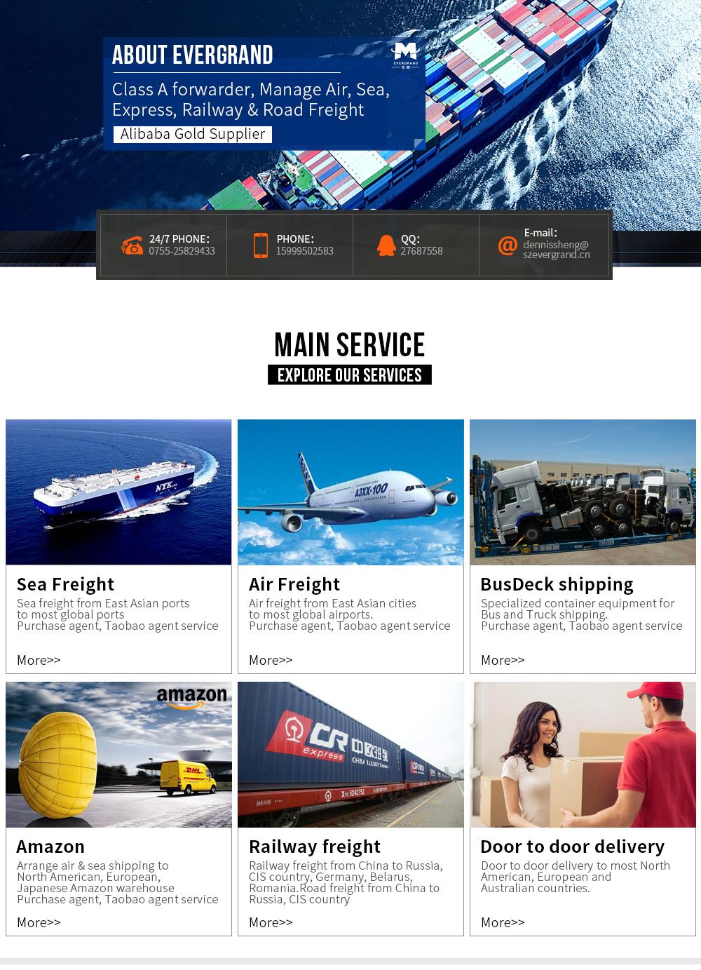 China Sea Freight Door to Door Shipping to Korea