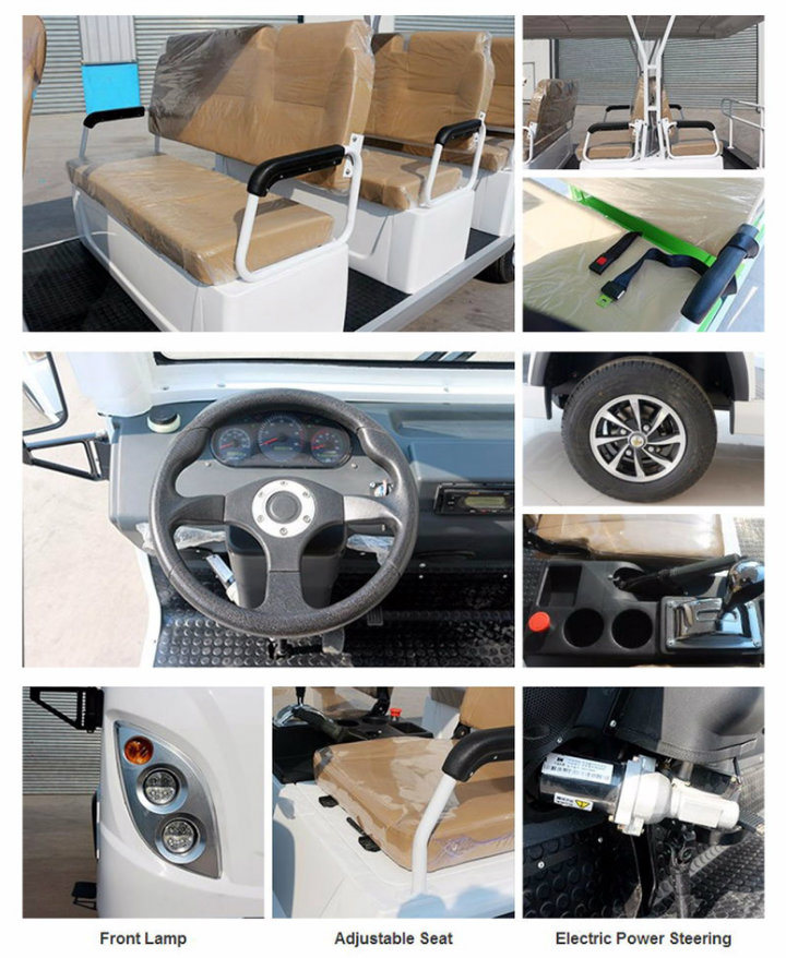 New Brand 8 Seats off Road 72V Tourist Electric Sightseeing Bus for Resort