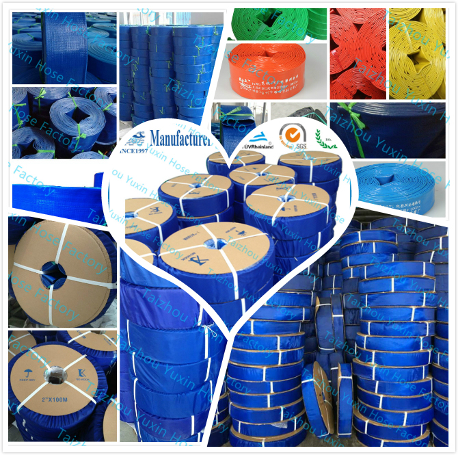 PVC Agriculture Irrigation Industrial Lay Flat Water Pump Discharge Flexible Garden Hose