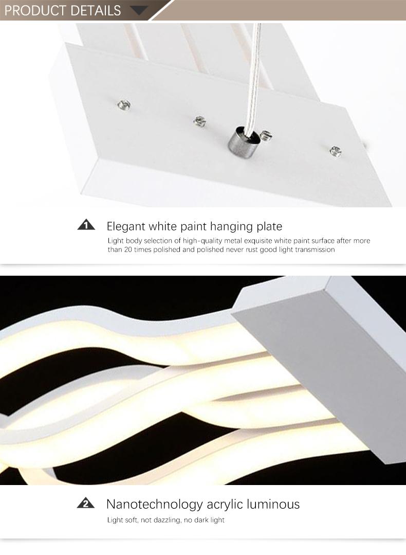Modern Curve Decorative LED Hanging Lamp Lighting Pendant Light