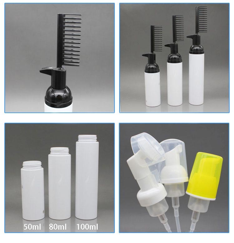 Plastic Foam Pump Bottle, Small Foam Pump Bottle with a Comb (FB10)