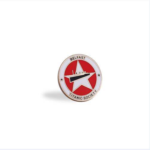 Silver Round Lapel Pin, Organizational Badge (GZHY-LP-016)