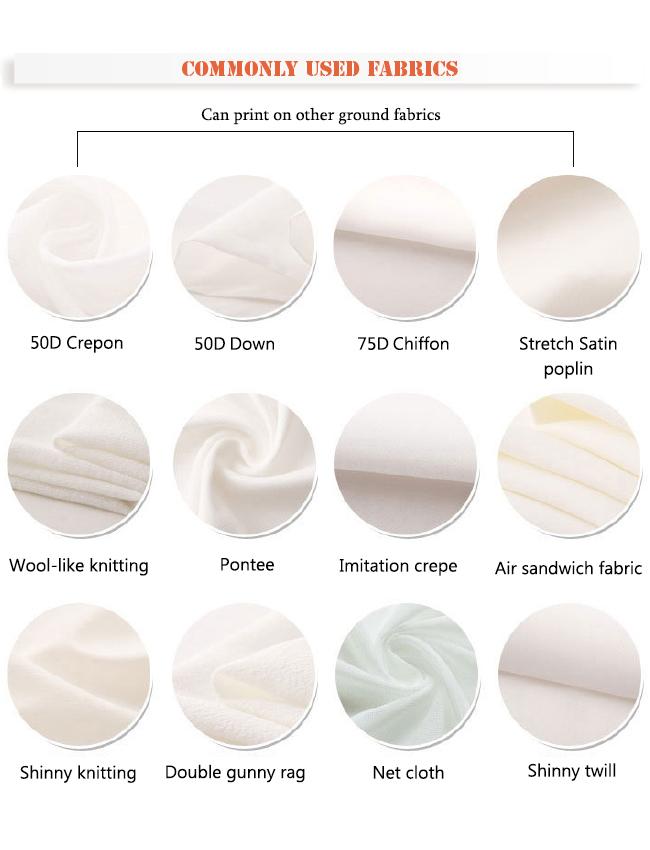 New Elegant Printed Chiffon Dress Garment Fabric