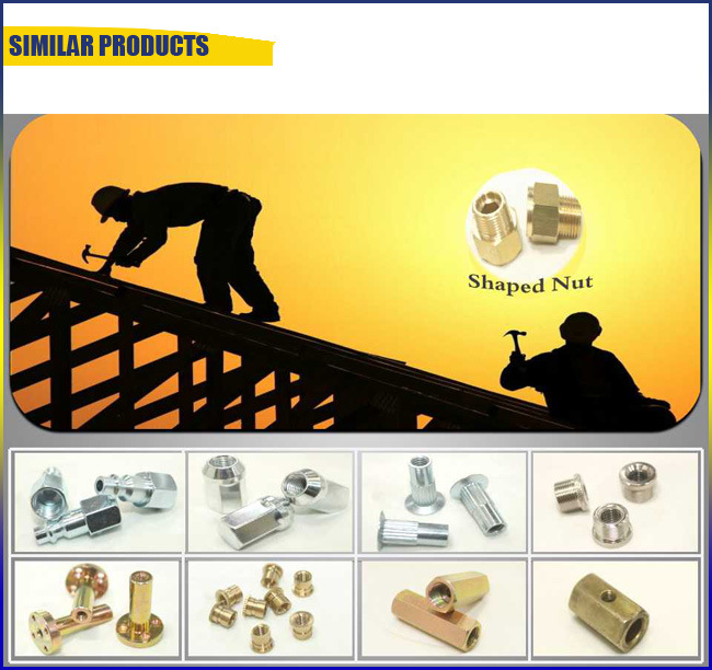 New Arrival Copper/Yellow-Zinc Insert Nut with Knurl Grooved