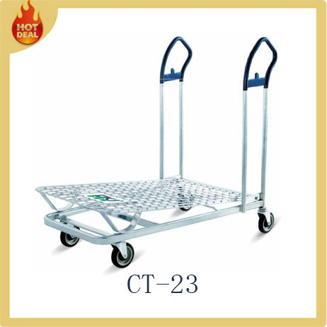 Cheap Powder Coated Carbon Steel Warehouse Trolley (CT-023)