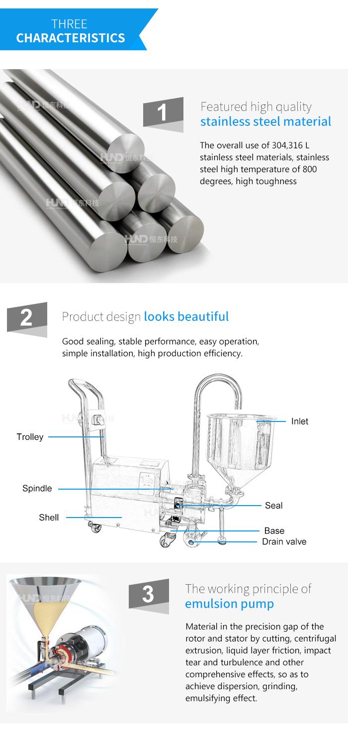 Sauce Homogenizing Inline Mixer/Mayonnaise High Shear Emulsion Pump