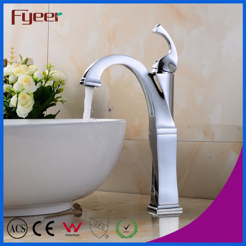 Fyeer Vitage Style Bathroom Chrome Plated Hot Cold Water Mixer Tap