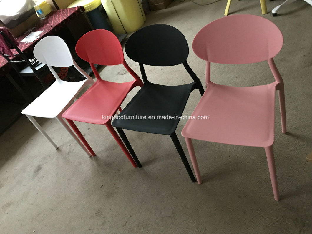 Garden Furniture Armless Design PP Colored Plastic Chairs
