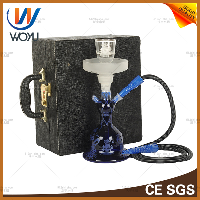 Shisha Nargile Single Pipe with Leather Case Hookah