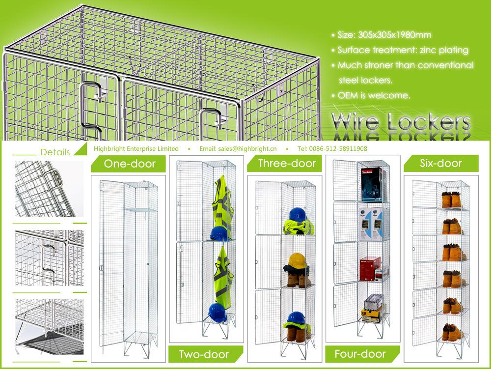 Single Nest Individual Metal Wire Mesh Locker