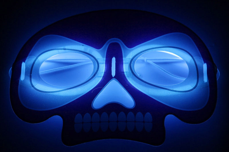 Halloween Glow Mask of Skull Shape
