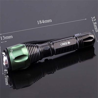 1X18650 Batt or 3xaaa Batt Rotating F04t Flashlight