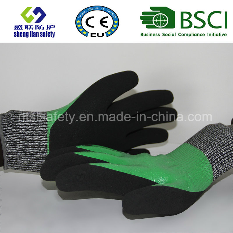 Cut Resistant Safety Work Glove with Sandy Nitrile Coated Safety Gloves