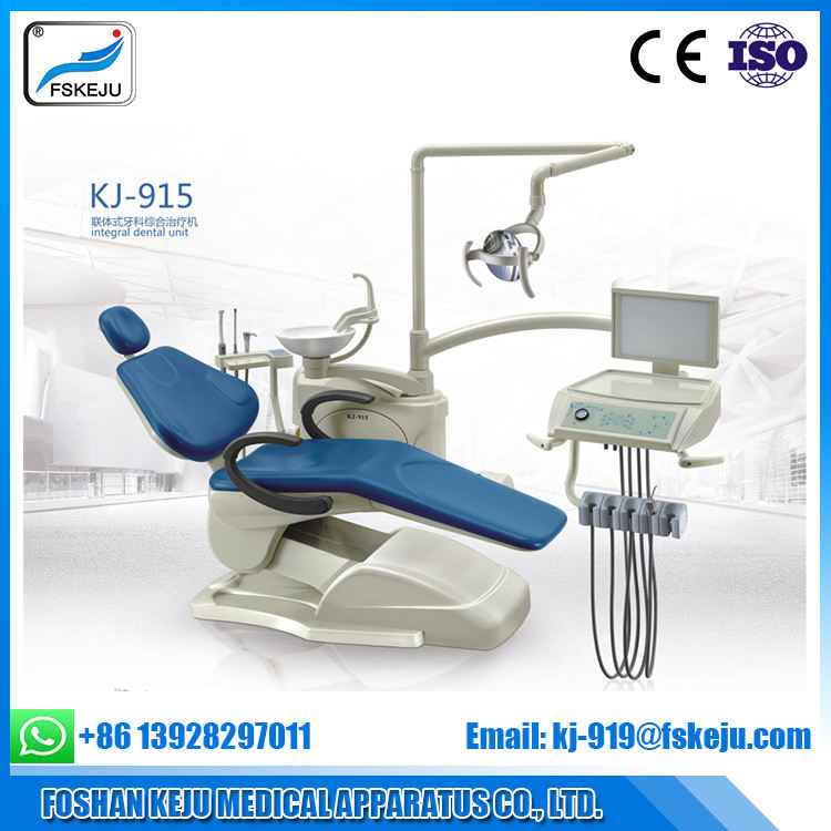 Dental Unit Chair ISO Ce Approved PU Leather Computer Control Dental Chair