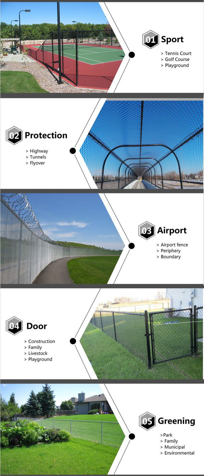 Factory Wholesale PVC Coated Diamond Wire Mesh Security Metal Fence