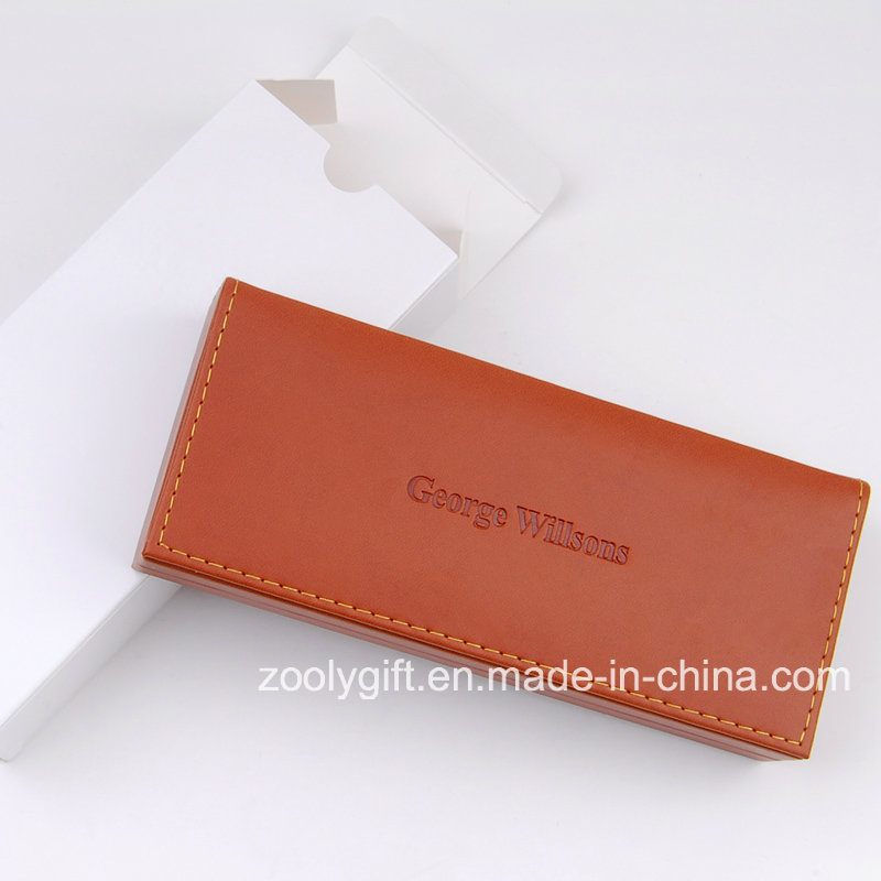 PU Leather Pen Packaging Box / Leather Display Storage Glasses Boxes / Jewelry Boxes with Logo Embossed