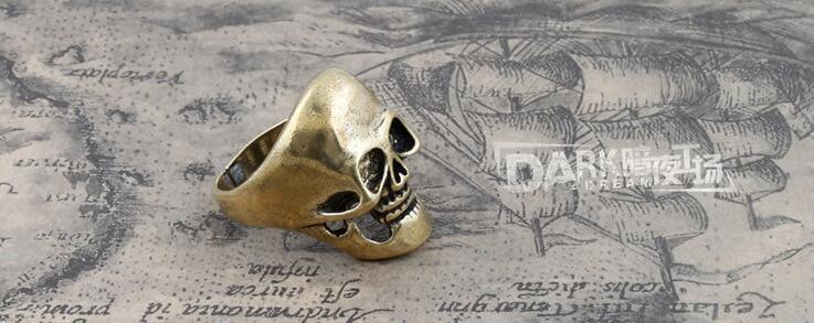 Fashion Ring Skull Modeling Retro Copper Color 19#