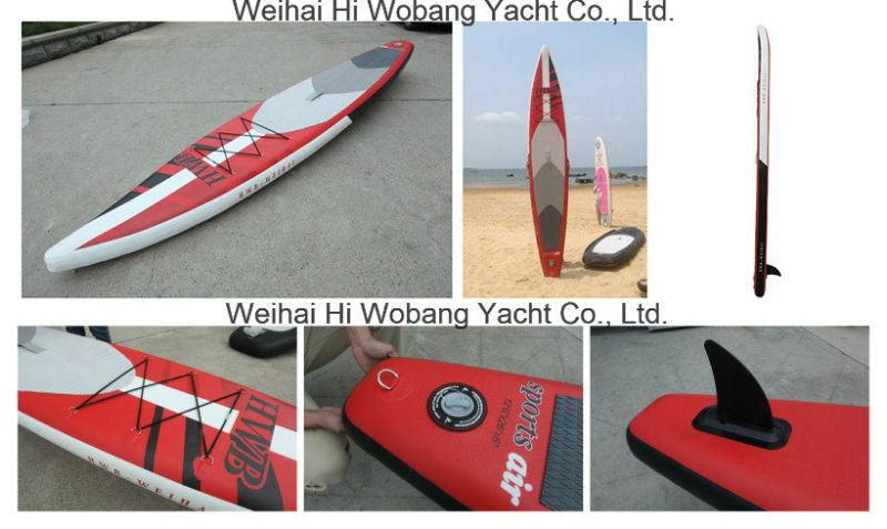 Sharp Long Board Inflatable Sup Board with Paddle