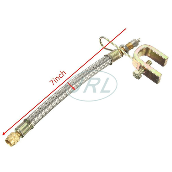 Stainless Steel Braided Wire Hose Tire Valve Extension
