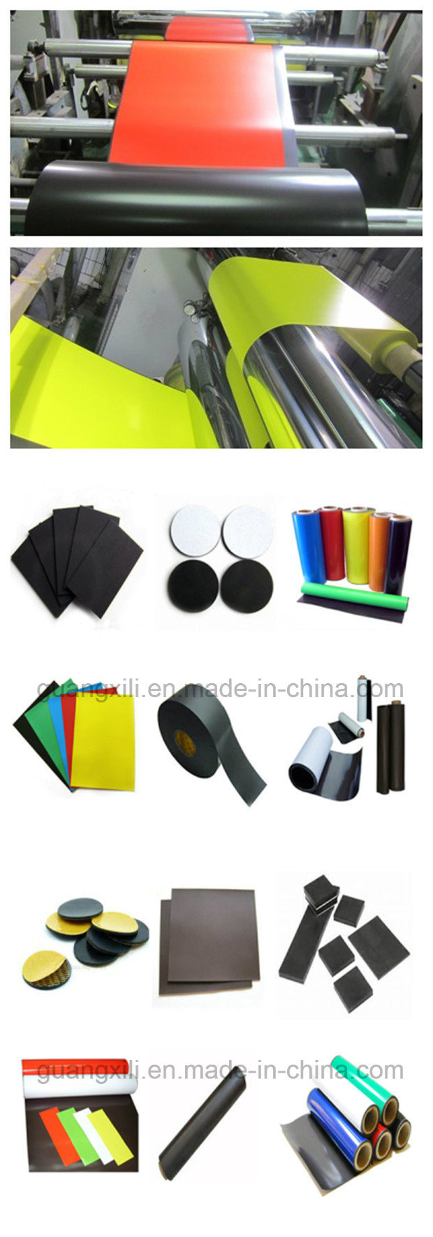 China Thin Isotropic Rubber Magnet with Sheet