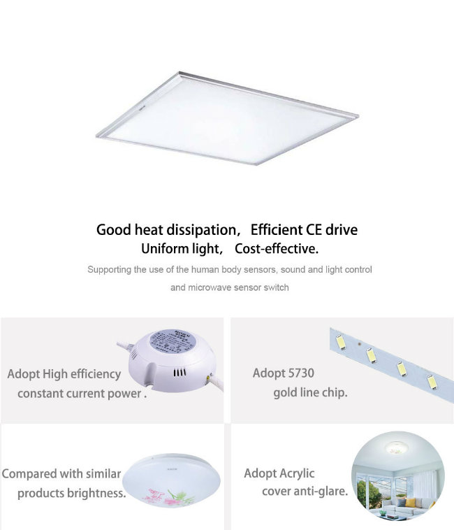 Thicken Aluminum Frame LED Ceiling Panel Lighting with Ce RoHS