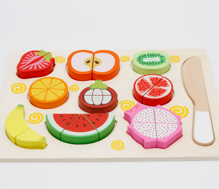 wooden cut fruit Toy