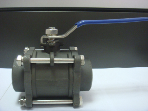 3PC Carbon Steel Wcb Ball Valve with Bw Connection