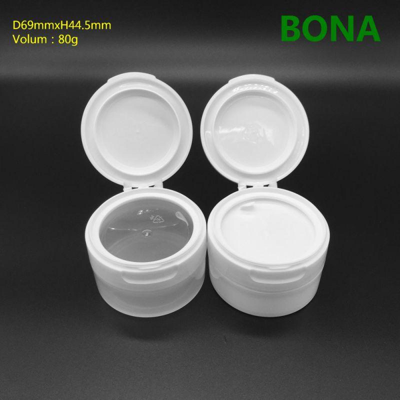 80g Face Cream Plastic Jar with Flip Top Cap