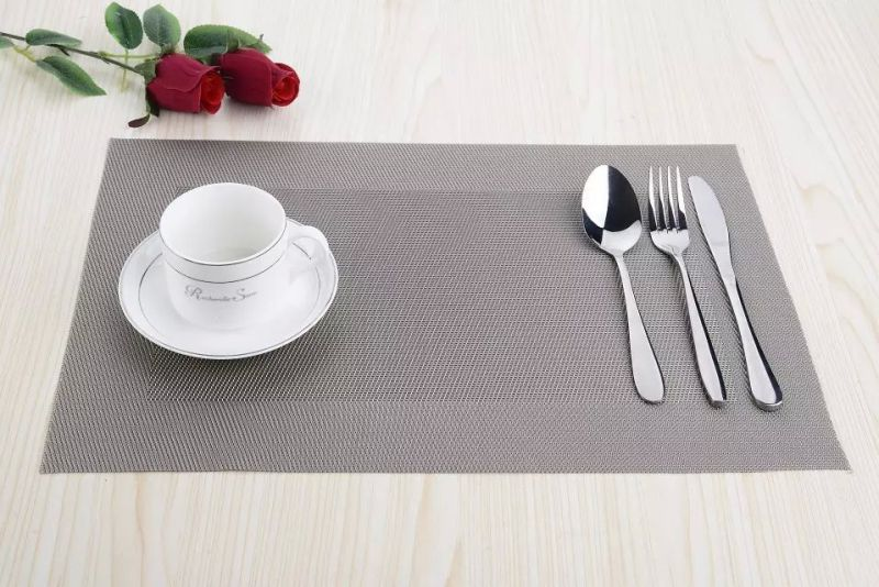 High Quality Cheap Eco-Friendly Material PVC Woven Kitchen Placemat