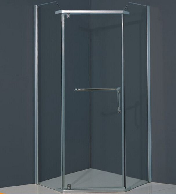 Without Tray Diamond Glass Bath Screen (ADL-8024)