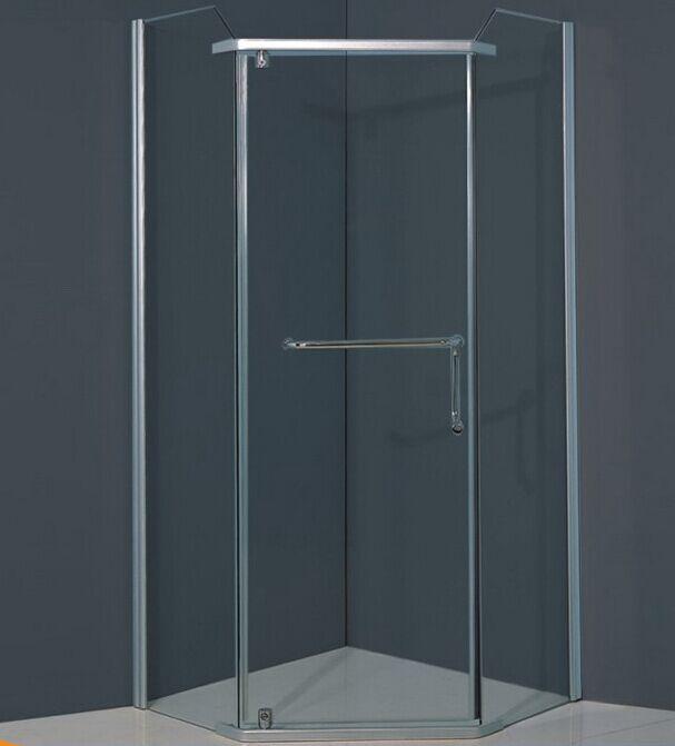 Without Tray Diamond Glass Bath Screen (ADL-8024)