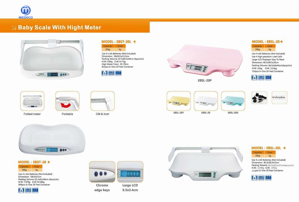 Baby/ Infant Digital Body Scale Ebst-20