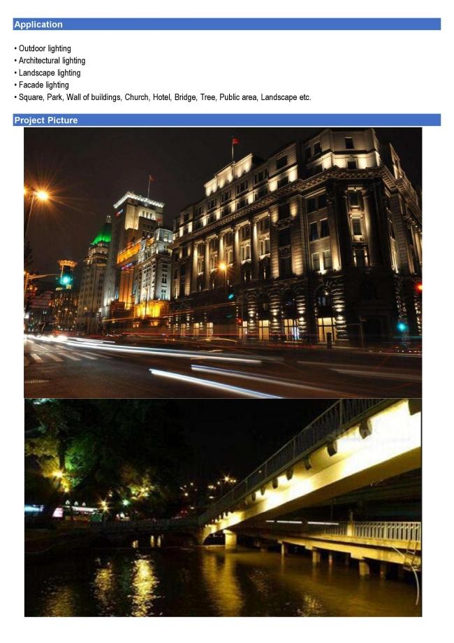 100W LED Flood Light 100lm/W for Parking Lot Warehouse Garden Square