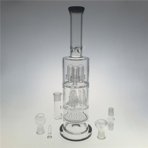 Huge Showerheads Blown Hookah Glass Water Pipes for Smoking (ES-GB-401)
