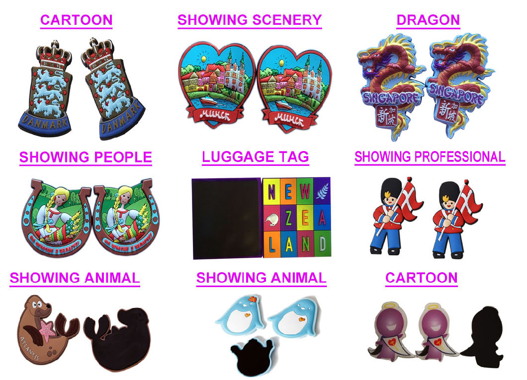 Customized Promotional Wholesale Cute Cartoon 3D Souvenir Resin Fridge Magnets