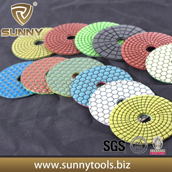 100mm Diamond Polishing Pads for Granite & Marble (SY-PL-T001)