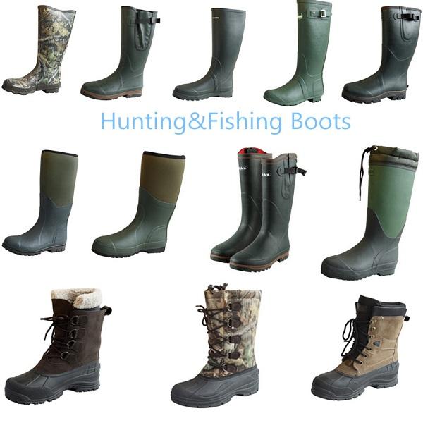 Rubber European Style Rain Boots for Men
