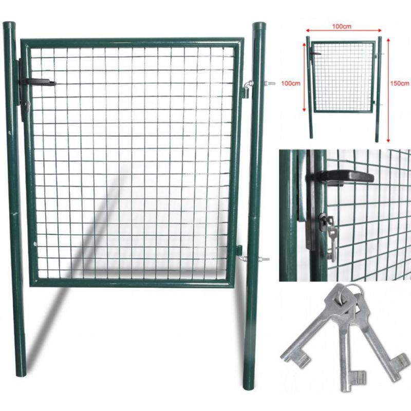 150 Cm X100 Cm Garman Standard Durable Heavy Duty Steel Backyard Green Door Garden Gate