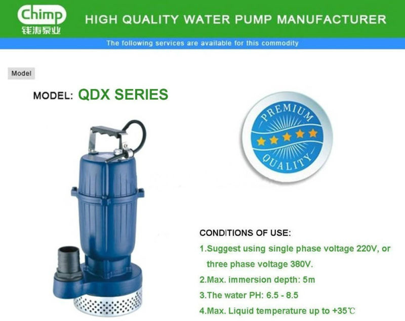 Chimp Qdx Series Irrigation Use Submersible Water Pump