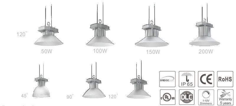 200 W LED Industrial High Bay Lighting, Best LED Industrial High Bay Light with UL Dlc Ce RoHS