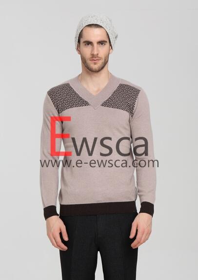 Men's Intarsia Pure Cashmere Sweater