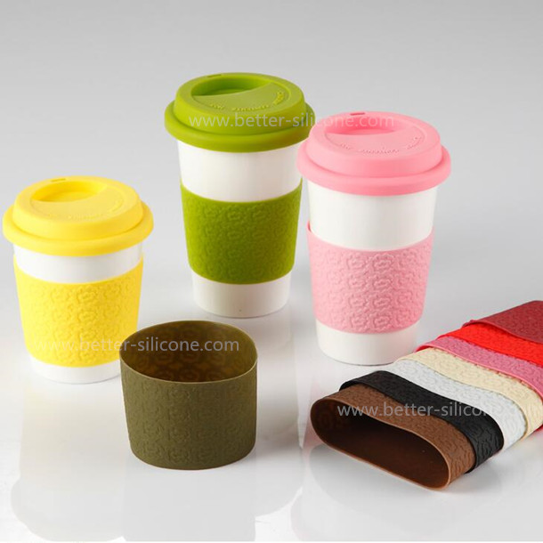 Custom Personalized Reusable Silicone Coffee Cup Sleeve