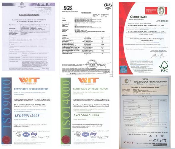 Marina Decking with SGS, Fsc, CE, Fcba, Intertek Certificates