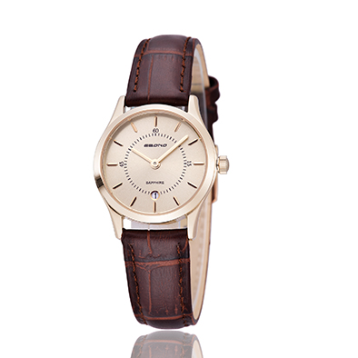 Cheap Sapphire Watch Fashion Watch Leather Strap Quartz Couple Wrist Watch