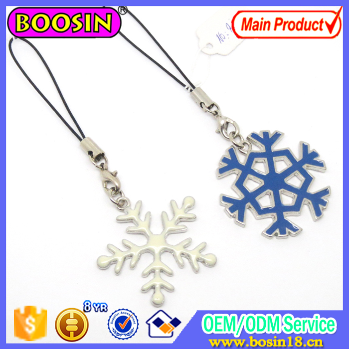 Promotion Letter and Snowflake Phone Strap Mobile Phone Accessories #8472